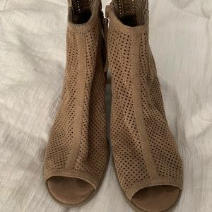 Shoes - Faux Suede Brown Booties